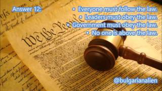 "#12 What is the ""rule of law""? [Civics Lessons Question 12]"