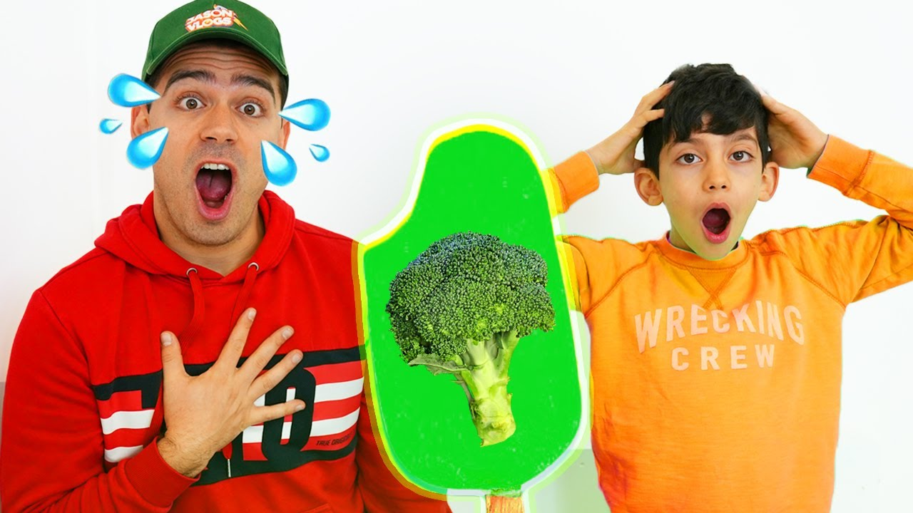 Jason Pretend Play Popsicle Ice Cream with Fruits and Vegetables