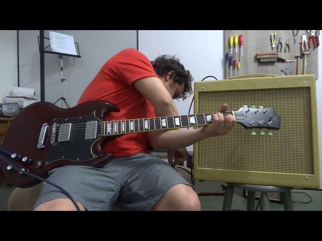 Teste Guitarra SG SX Captadores Gibson