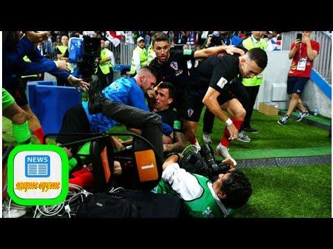 WM 2018: Fotograf wird bei Kroatien - England nach Tor von Mandzukic geküsst