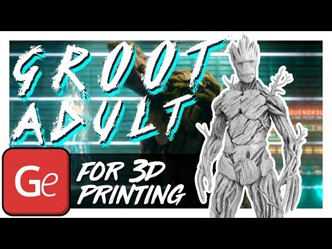 Groot Adult 3D Printing Miniature | Assembly by Gambody