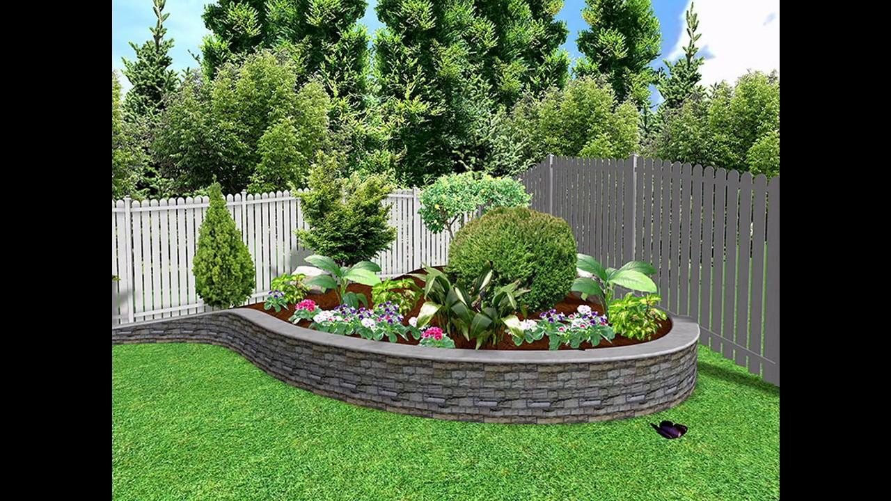 Ideas de dise o de paredes de jard n youtube for Diseno de jardines en parcelas
