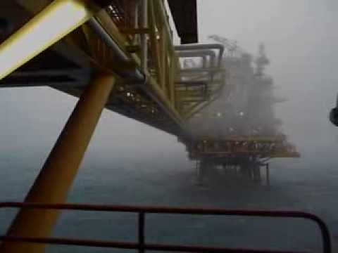 Bad weather at PETRONAS's ANDR-A & ANPG-A oil platforms (Angsi-A)