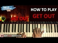 """HOW TO PLAY - HELLO NEIGHBOR SONG - """"Get Out"""" - DAGames (Piano Tutorial Lesson)"""