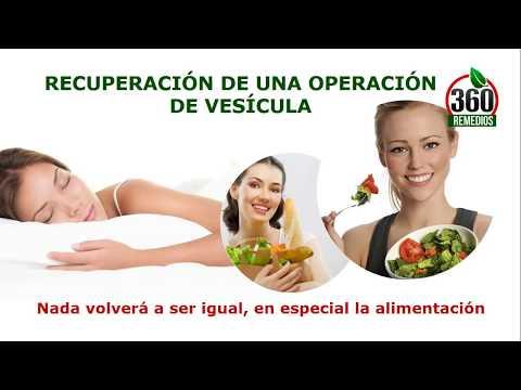 dieta recomendada para despues de una operacion de vesicula
