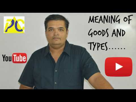 MEANING OF GOODS AND TYPES...........