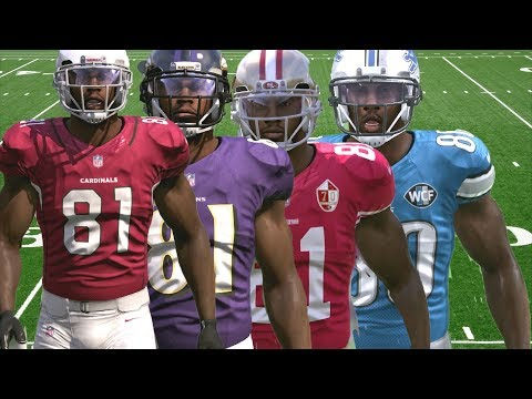 ANQUAN BOLDIN THROUGH THE YEARS FROM NCAA FOOTBALL 2001 TO MADDEN 17