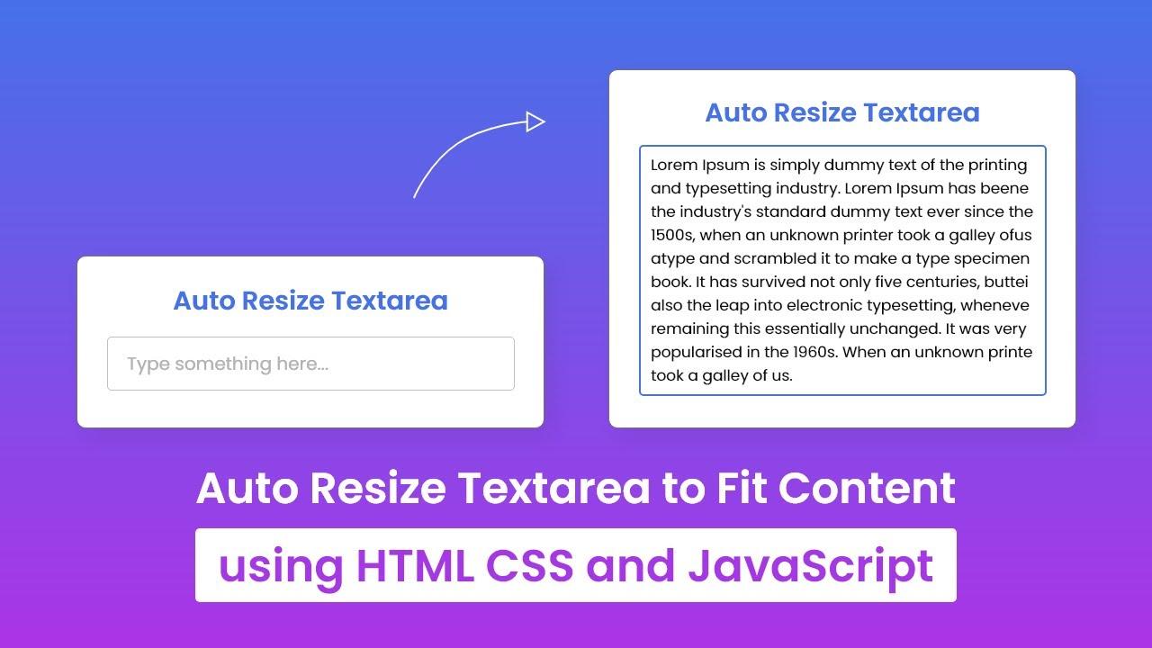 How to Auto Resize Textarea using HTML CSS & JavaScript