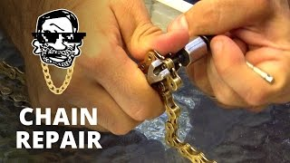 How to repair or replace a MTB chain