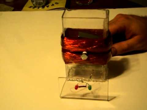 Magnetic Generator With Led S Youtube