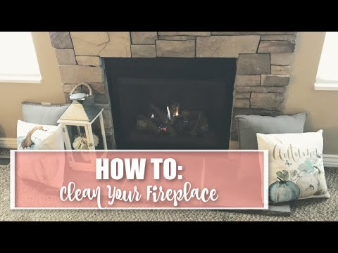 HOW TO CLEAN GAS FIREPLACE//EASY HOW TO STEPS//CLEAN FIREPLACE GLASS 2018