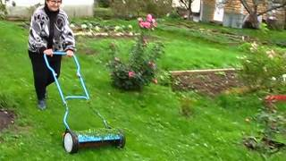 видео Барабанные газонокосилки