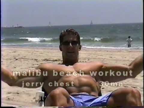 malibu beach workout-30mn chest tone with  jerry at the beach