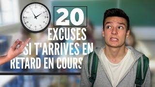 20 excuses pour arriver en retard en cours