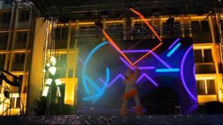 Неоновое шоу на День города в Слуцке