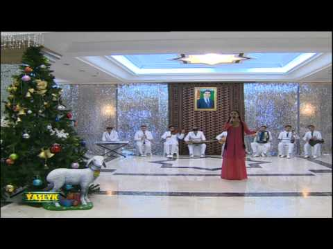 Christmas program on Turkmenistan TV
