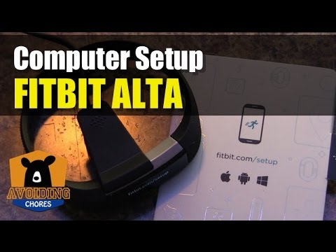 Fitbit Alta - How To Setup With Computer - YouTube