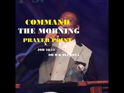COMMAND THE MORNING PRAYER POINT