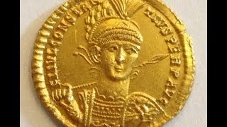 Gold roman Solidus found in the UK 19th June 2014