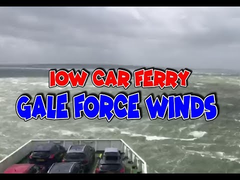 Isle Of Wight Car Ferry In Gale Force Winds - Very Rough Crossing