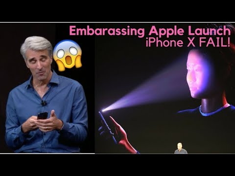 Iphone X Fail during demo!