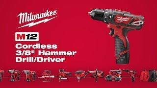"Milwaukee® M12™ 3/8"" Hammer Drill Driver 2408-22"