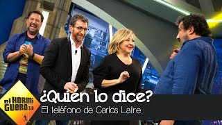 Carlos Latre desata las risas con el 'Teléfono escacharrado de imitaciones' - El Hormiguero 3.0
