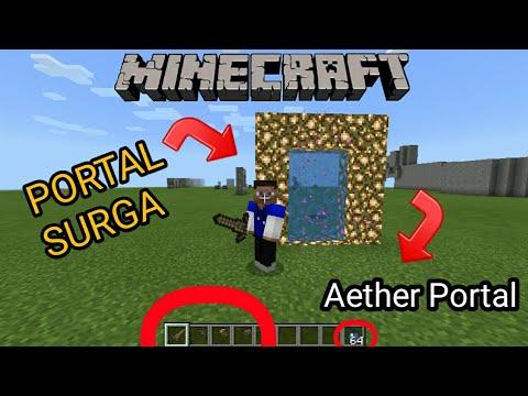 Cara Membuat Portal Surga | 100% Berhasil | AETHER PORTAL | Minecraft