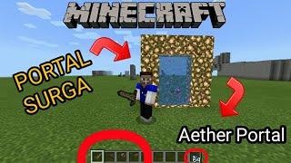 Cara Membuat Portal Surga  100% Berhasil  Aether Portal  Minecraft