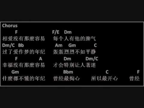 [乐谱99] 没那么简单 - 黄小虎 (歌谱 歌词 Guitar Chords)