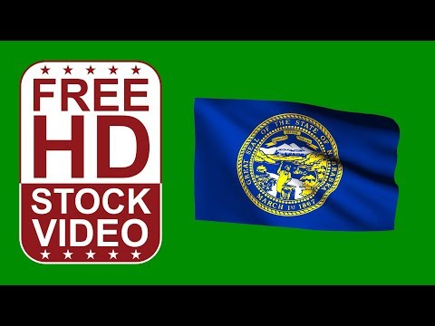 FREE HD video backgrounds – USA Nebraska State flag waving on green screen 3D animation