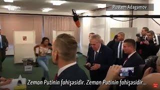 """""""Putinin fahişəsi""""- deyib, prezidentə lüt etiraz etdilər"""