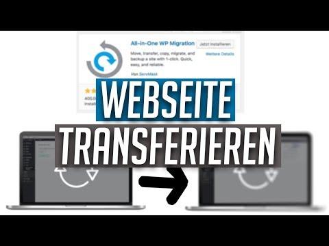 WordPress Webseite Transferieren Mit All-in-One WP Migration | Tutorial
