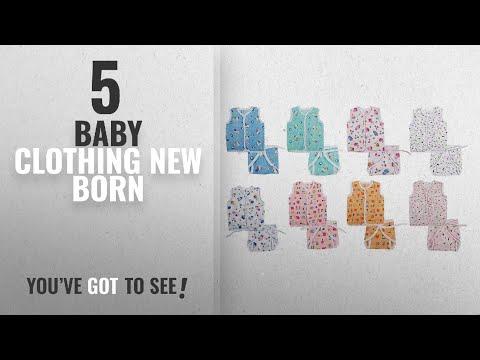 Top 10 Baby Clothing New Born [2018]: FARETO New Born Baby Gift Pack Jhabla With Diaper (Multicolor)
