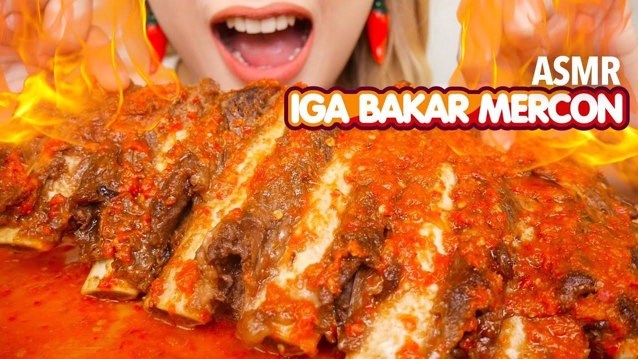 #176 Request ASMR IGA BAKAR SAMBAL 4PI MERCON PEDES SANGARR! | ASMR Indonesia