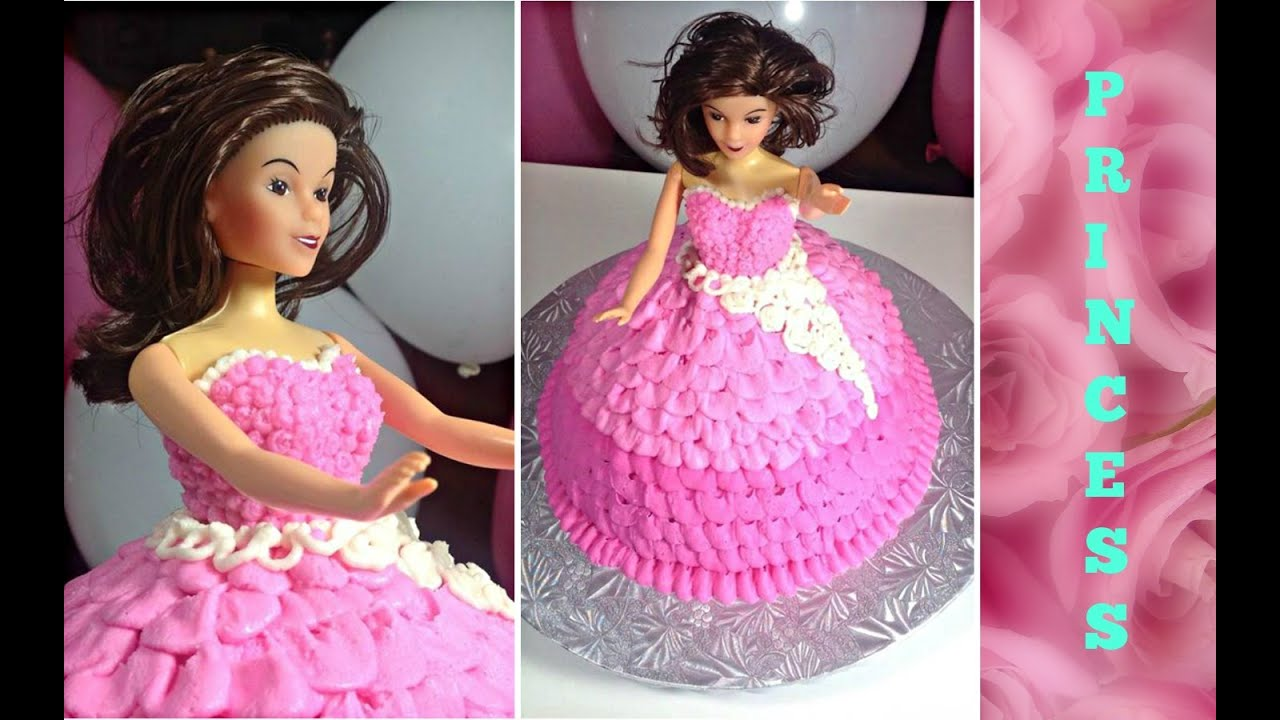 Birthday Cake Ideas How To Make A Princess Doll Tutorial By HUMA IN THE KITCHEN