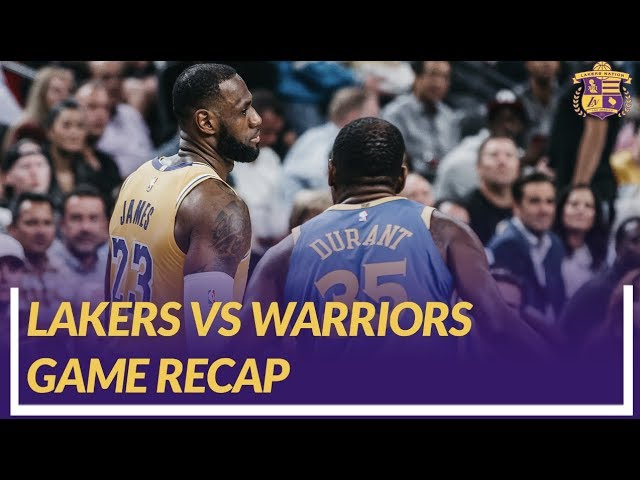 lakers-nation-game-recap-lakers-win-vs-the-warriors-lonzo-s-first-game-back-importance-of-pace