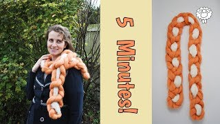 Hand Knitted Scarf Tutorial