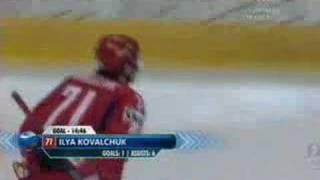 4:4 Канада - Россия. Финал ЧМ 2008 по хоккею(4:4 -- 54.46 Ковальчук (Прошкин, Радулов), 2008-05-18T21:53:38.000Z)