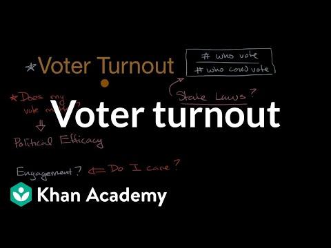 Voter turnout | Political participation | US government and civics | Khan Academy