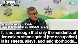 "Fatah official includes all of Israel in ""Palestine"" - ""between the River and the Sea"""