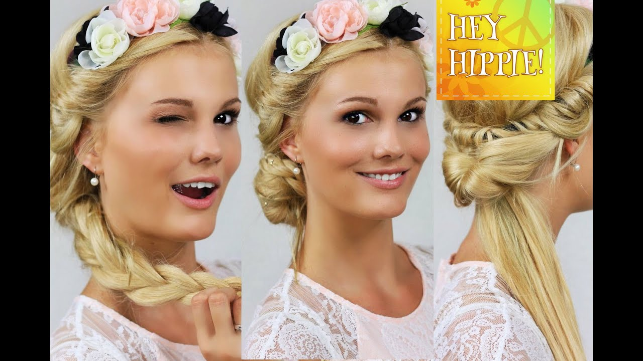 Hippie Frisur Festivalfrisuren Mit Haarband - 4 Frisuren Step By Step