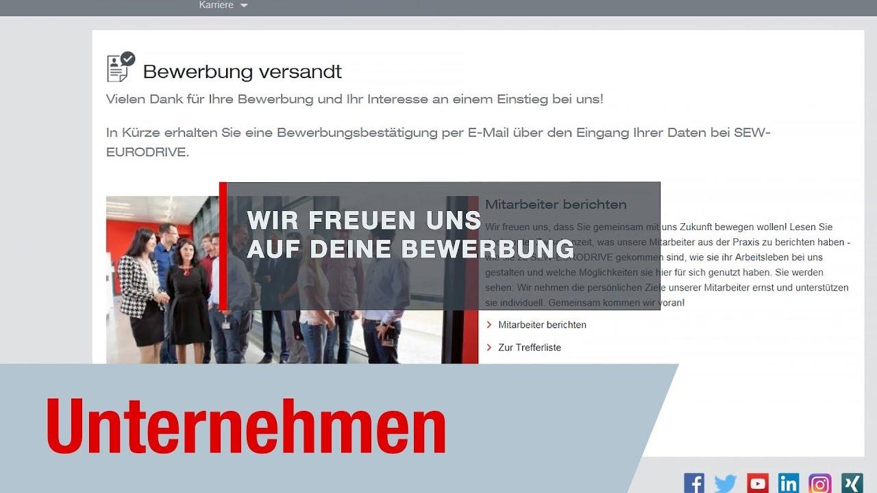 online bewerbung sew eurodrive - Wie Sieht Eine Online Bewerbung Aus