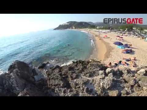 ΘΕΣΠΡΩΤΙΑ-Τρελές βουτιές στην παραλία  Καραβοστάσι[VIDEO 4K]