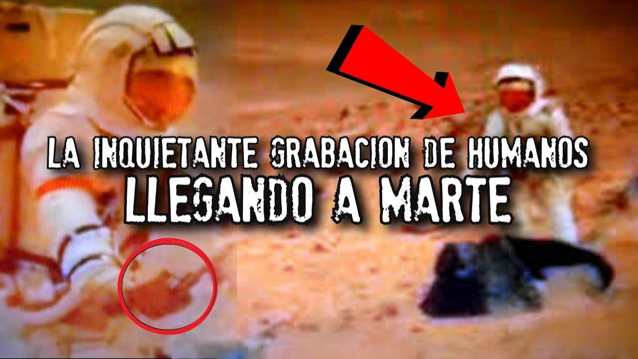 La grabación de humanos llegando a Marte   Video y Fotografías