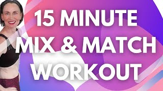 15 MINUTES TO FIT  LIGHT HAND WEIGHT LOW IMPACT CARDIO   QUICK WORKOUT   WEIGHT LOSS WORKOUT  AFT