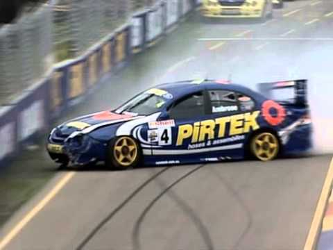 V8 Supercars Flashback - Marcos Ambrose Crashes (Adelaide 2001)