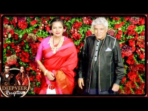 Shabana Azmi Javed Akhtar Bless Deepika Ranveer At Their Mumbai Reception Party 2018
