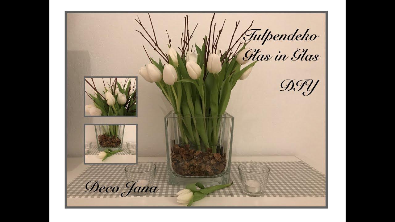 Diy Fruhlings Tischdeko Blumendeko Mit Tulpen Deko Jana Youtube
