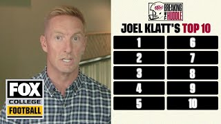 Joel Klatt's college football preseason Top 10 | BREAKING THE HUDDLE | CFB ON FOX